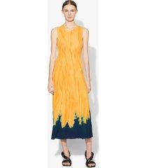 proenza schouler dipped tie dye knit dress orange/blue/yellow s