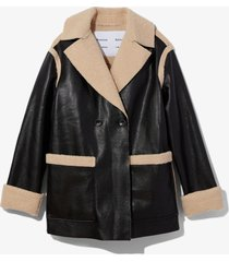proenza schouler white label faux sherpa reversible coat /black xs