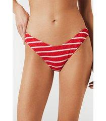 calzedonia natalie v-cut bikini bottoms woman red size 4