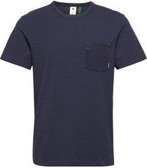contrast mercerized pkt r t s\s t-shirts short-sleeved blå g-star raw
