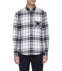 check plaid long sleeve shirt