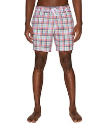 drawstring printed swim shorts