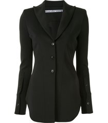 alexander wang fitted shirt blazer - black