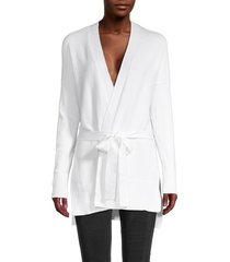 laundry by shelli segal women's high-low belted cardigan - marshmallow - size xl
