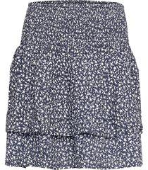 pzbenedikte skirt kort kjol blå pulz jeans