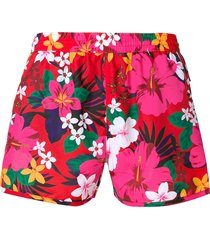 ami paris floral print swim shorts - pink