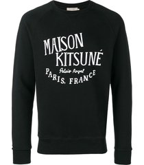 maison kitsuné palais royal sweatshirt - black