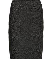 kalexi lurex skirt kort kjol svart kaffe