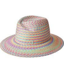 maison michel virginie woven fedora hat - blue