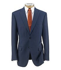 traveler tailored fit sharkskin men's suit clearance by jos. a. bank