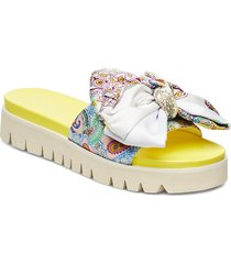slip-on sandals shoes summer shoes flat sandals multi/mönstrad ilse jacobsen