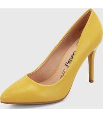 tacón alto amarillo betsy