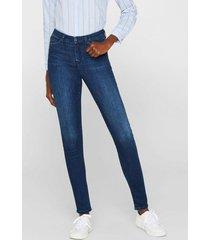 jeans elásticos de tejido oscuro azul marino esprit