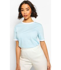 cotton ringer t-shirt, blue