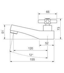 torneira lavatório de mesa deca 1197.c37 bica baixa izy cromado