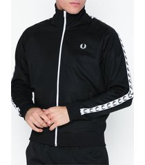 fred perry taped track jacket tröjor svart