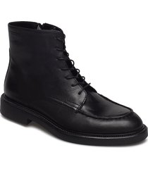 alex w shoes boots ankle boots ankle boots flat heel svart vagabond