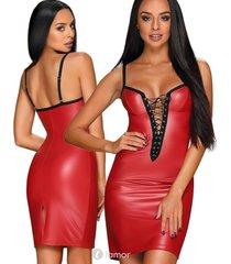 * obsessive rood lederlook jurkje redella