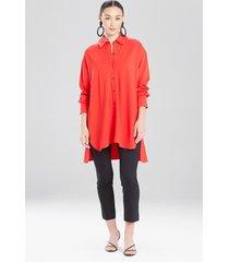 natori light weight ponte oversized shirt, women's, size l