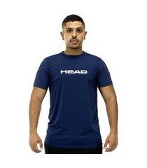 camiseta head lisa básica azul marinho - masculina - p incolor