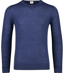 olymp level 5 pullover scheerwol navy ronde hals