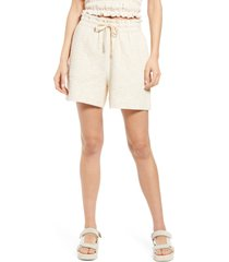 women's current air drawstring shorts, size small - ivory