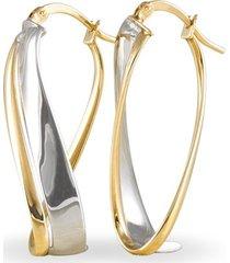 orecchini a cerchio in oro bicolore per donna