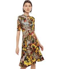 vestido desigual amarillo - calce ajustado