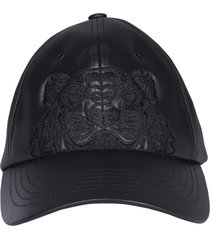 kenzo leather kampus tiger baseball cap