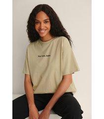 na-kd ekologisk ekologisk t-shirt med tryck - green