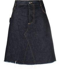 bottega veneta a-line mid-length skirt - blue