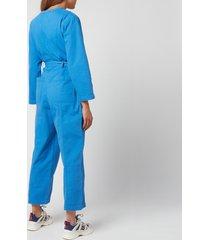 a.p.c. women's gaelle jumpsuit - blue - fr 34/uk 6