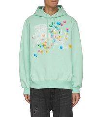 it's not anniversary today fringe embroidered hoodie