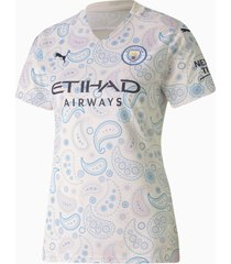 man city third replica shirt voor dames, blauw/wit, maat s | puma