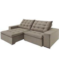 sofá 3 lugares retrátil e reclinável di qualitá inovare, 250 cm, marrom