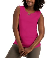 karen scott cotton hardware tank top, created for macy's