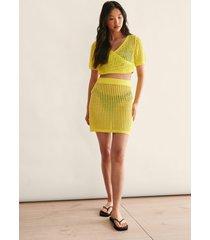 na-kd trend virkad kjol - yellow
