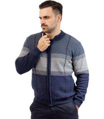 jaqueta de malha sumaré 10407 azul