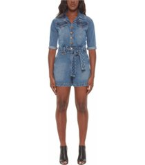 women's denim jumpsuit