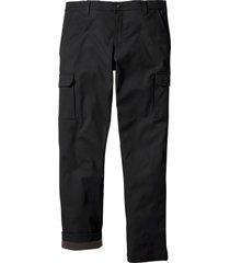 pantaloni cargo termici regular fit (nero) - bpc bonprix collection