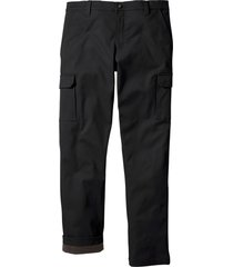 pantaloni cargo termici regular fit (nero) - bpc bonprix collection