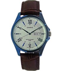 reloj casio analógico mtp1384bul5a-chocolate
