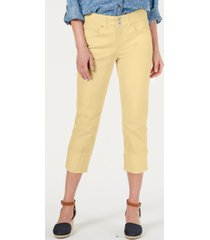 style & co high cuffed capri jeans, created for macy's