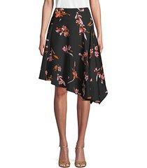 moni floral asymmetrical skirt