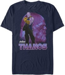 marvel men's avengers infinity war thanos strong pose short sleeve t-shirt