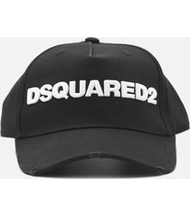 dsquared2 cotton baseball cap with contrasting embroidered logo