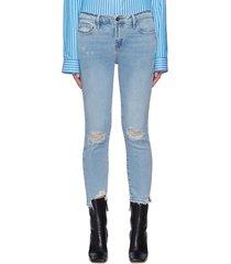 le garcon' distressed crop skinny jeans