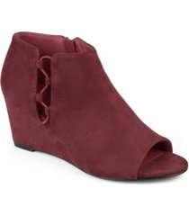 journee collection women's falon wedge bootie women's shoes