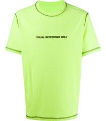 diesel contrast stitch reversible t-shirt - green