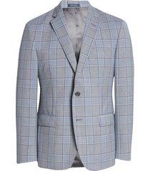 men's big & tall john w. nordstrom traditional fit glen plaid wool sport coat, size 50 regular - grey